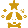 pet-hotel-sign-of-a-dog-with-a-star-and-pawprints